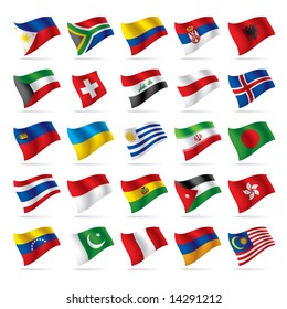 Vector set of world flags 3