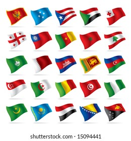 Vector set of world flags 4