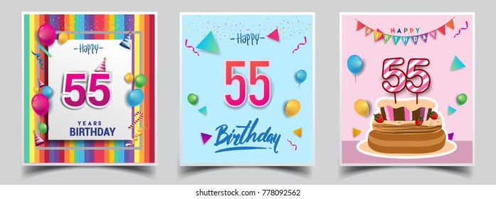 Fine 55Th Birthday Images Stock Photos Vectors Shutterstock Personalised Birthday Cards Paralily Jamesorg