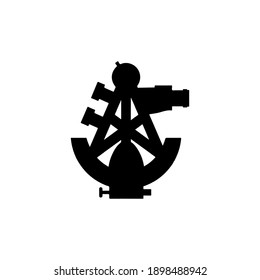 Vector sextant silhouette Social network vector icon for app, web site etc.