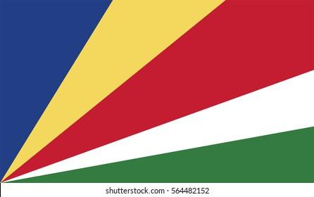Vector Seychelles flag, Seychelles flag illustration