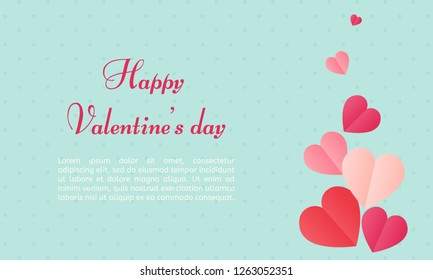 Vector shape confetti splash. Valentine's Day background congratulation card. Heart form of a lot of small hearts on a white background.