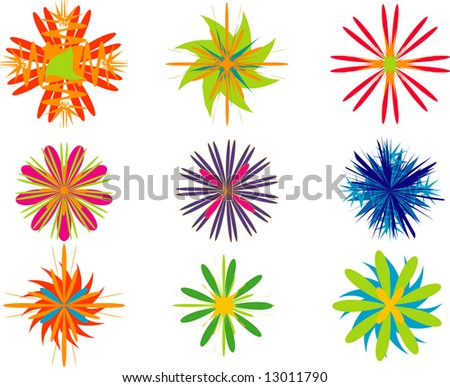 vector shaps projects stock vector royalty free 13011790