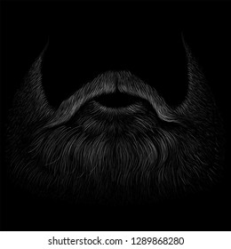 The Vector shaving effect beard for T-shirt design or outwear.