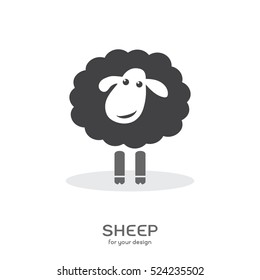 Vector of a sheep design on white background. Farm Animals.
