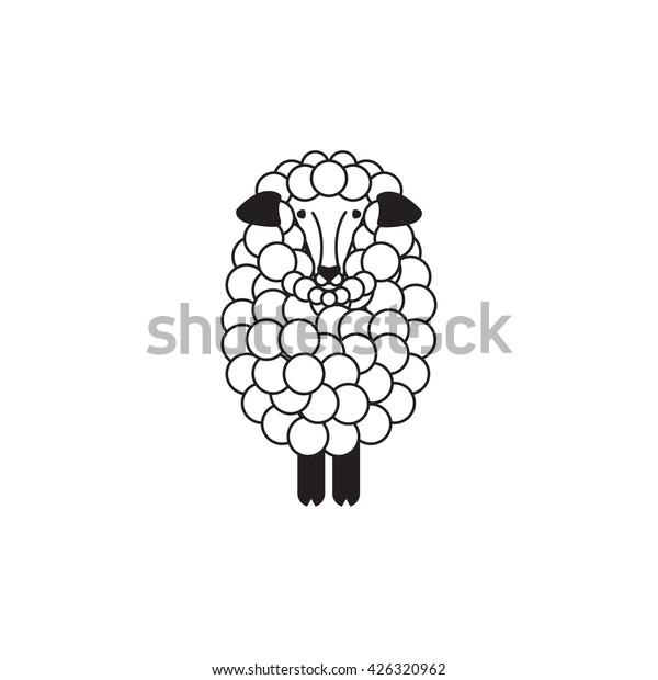 Vector Sheep Ram Icon Logo Template Stock Vector (Royalty Free