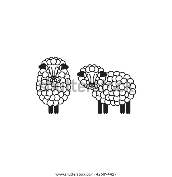 Vector Sheep Ram Icon Sheep Logo Stock Vector (Royalty Free) 426894427
