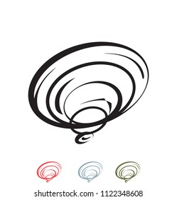 Vector Shell Ear Wind Spin Spiral Vortex Whirlpool Hole Blow Swirl Swipe Swoosh Swoop Rotation Tornado Hurricane Abstract Line Art Logo Icon Brand Symbol Shape Sign Professional Business Company