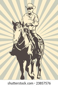 Vector sheriff on the horse