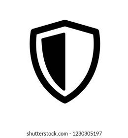 vector shield icon, flat design best shield vector icon