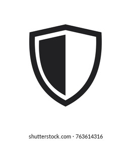 vector shield icon, flat design best shield vector icon