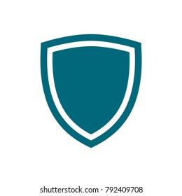 vector shield icon, flat design best vector shield illustration