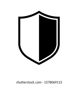 Vector Shield icon. Heraldic shields, security black labels. Knight award, medieval royal vintage badges isolated vector. Protect shape arms silhouette elements set.
