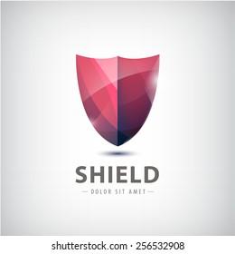 vector shield icon, logo isolated