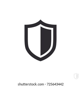 Vector shield icon. Security vector icon. Protection icon. Shield vector icon.