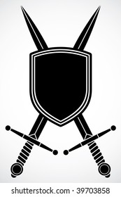 Vector Shield and Swords