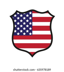 Vector shield US flag