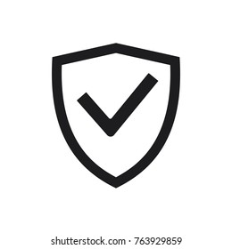 vector shiled icon, flat design best shield icon