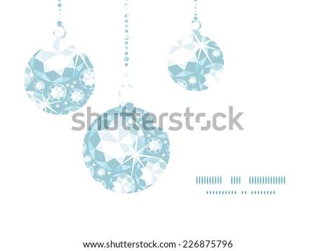 Vector Shiny Diamonds Christmas Ornaments Silhouettes Stock Vector