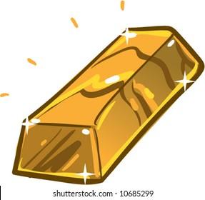 vector shiny gold bar
