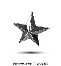 Vector shiny punk star stud illustration isolated on white background.