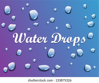 Vector shiny water drop isolated on background