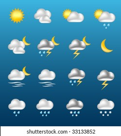 Vector shiny WEATHER icons [01]