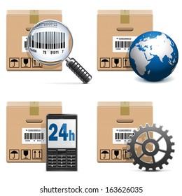 Vector Shipment Icons Set 15