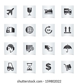 Vector shipping icons set.