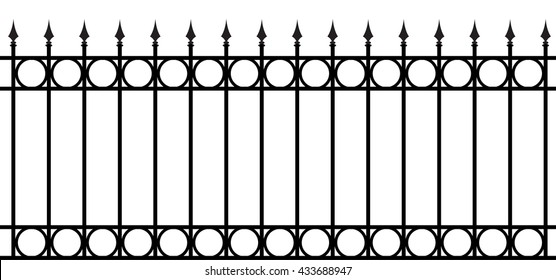 Vector shod fence