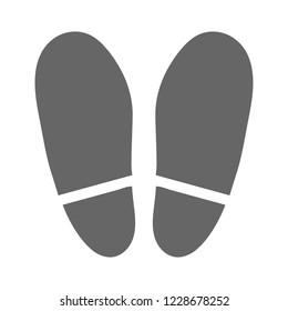 vector Shoe print illustration - human Shoe print symbol, feet silhouette isolated