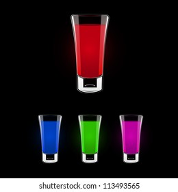 Vector shooting glass color collection.