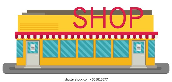 Vector Shop or Store Building Illustration