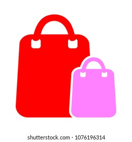 vector shopping bags illustration isolated, paper package symbol