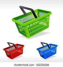 Vector shopping basket