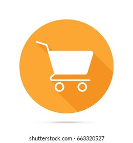 Vector shopping cart flat icon. Add to cart. Buy. Purchase. Ecommerce. Shopping
