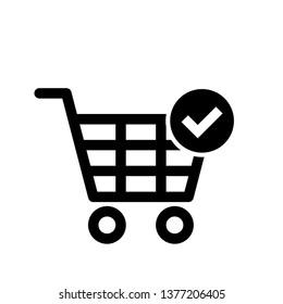Vector shopping cart Icon - Vector