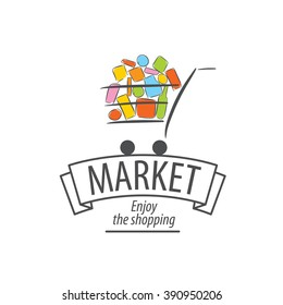 vector shopping logo