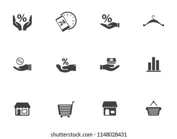 vector shopping, Marketing and sale icons - shopping illustrations collection