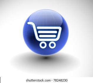 vector shopping web icon design element.