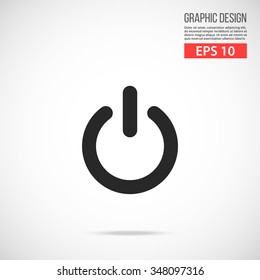 Vector shut down icon. Black icon. Modern flat design vector illustration, quality concept for web banners, web and mobile applications, infographics. Vector icon isolated on gradient background