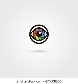 Vector shutter eye icon