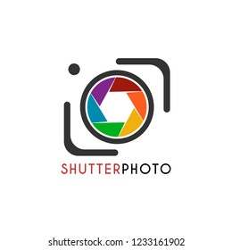 Vector Shutter Photo with shutter and camera line. It's good simple for brand identity or company logo design template. Logo, Icon, vector, app icon, emblem, label, symbols  and etc.