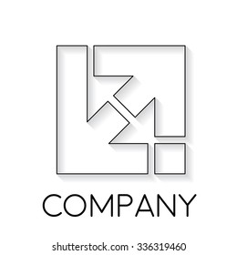 Vector sign abstract business and innovation with arrow, in linear style