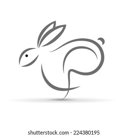 Vector sign abstract hare