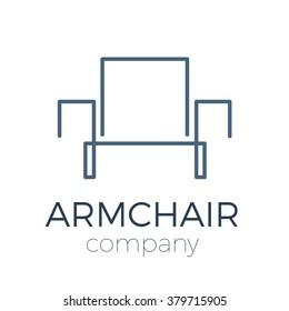 Vector sign abstract modern armchair