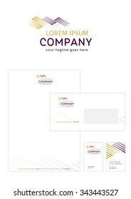 Vector sign abstract road company, delivery logo or concept design,logo design template.