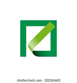 Vector sign abstract shape. Environment in box