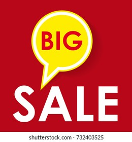 Vector sign big sale with label