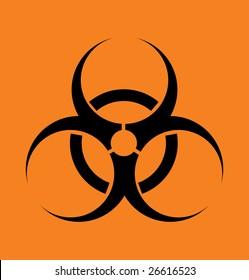 """Vector sign """"biohazard"""" on an orange background"""